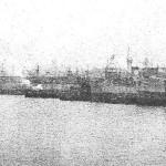 Ships lining Omaha Beach