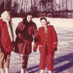 1957: Me (left) girlfriends at Goshen, Indiana's outdoor  rink