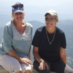 At the summit! Liz(R) and hiking buddy, Trish