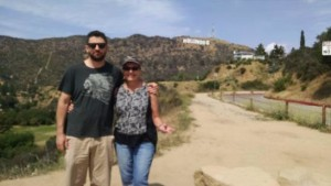 Jake and I. Notice Hollywood sign top, right.