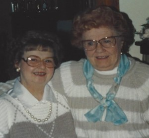 L to R: Sister Alma and Mother 1991