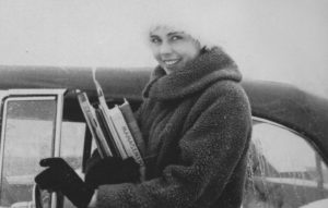 "1962: Fritzie in ""furs"""