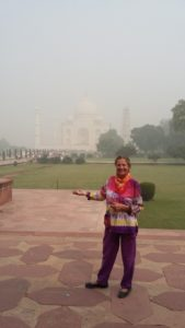 I could barely see the Taj Mahal.