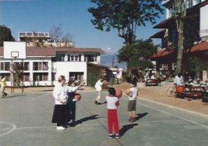 B-ball court in Kathmandu