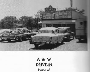 1950s A &W Stand in Goshen, Indiana