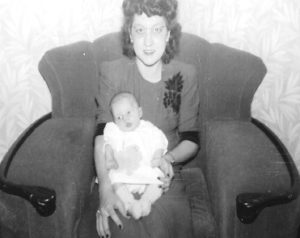 Me and my mother when I was still a colicky baby.