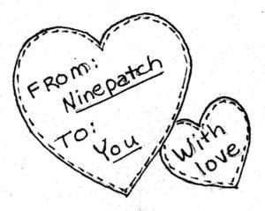Ninepatch Valentine